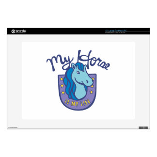 Horses Are My Life Laptop Decal