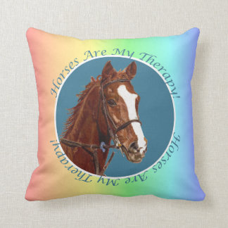 Horses Are My Therapy! American MoJo Pillows