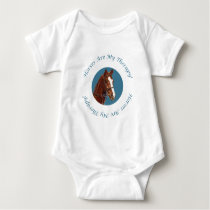 Horses Are My Therapy Baby Bodysuit