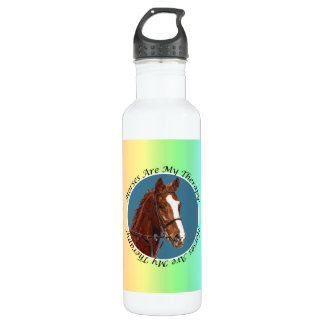 Horses Are My Therapy Liberty Bottle 24oz Water Bottle