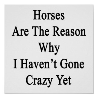 Horses Are The Reason Why I Haven t Gone Crazy Yet Print