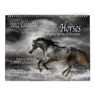 Horses Art Calendar 2012