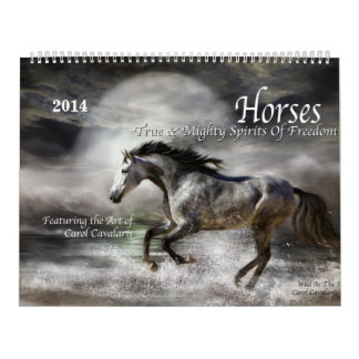Horses Art Calendar 2014