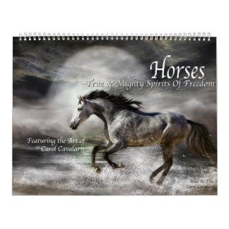Horses Art Calendar 2016