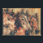 "Horses Artistic Watercolor Painting Decorative Cover For iPad Mini<br><div class=""desc"">Beautiful decorative original artistic painting of three horses.</div>"