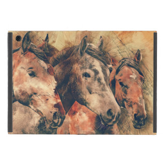 Horses Artistic Watercolor Painting Decorative Cover For iPad Mini