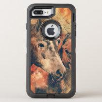 Horses Artistic Watercolor Painting Decorative OtterBox Defender iPhone 8 Plus/7 Plus Case