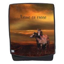 Horses at dusk backpack