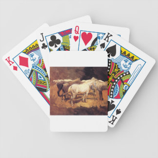 Horses at Palma by John Singer Sargent Bicycle Playing Cards