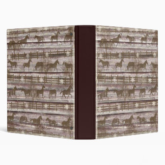 Horses At Play Binder/Album 3 Ring Binder