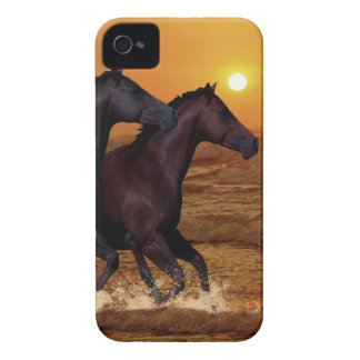 Horses at sunset iPhone 4 covers