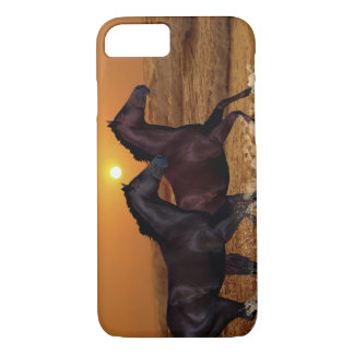 Horses at sunset iPhone 7 case