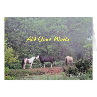 Horses at the Pond-any occasion Card