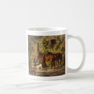 Horses at the Porch Coffee Mug
