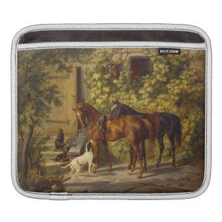 Horses at the Porch iPad Sleeves