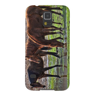 Horses at the watering hole galaxy s5 cases