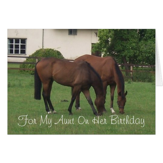 Horses aunt birthday card zazzle horses aunt birthday card bookmarktalkfo Image collections