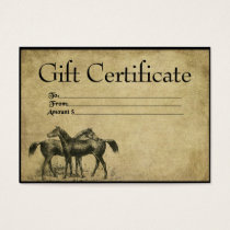 Horses- Between Friends- Prim Gift Certificate Car