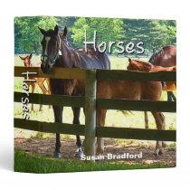 Horses (Binder) 3 Ring Binder