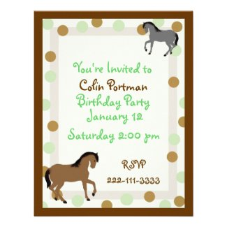 Horses Birthday Invitation invitation