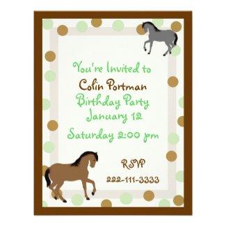 Horses Birthday Invitation invitation