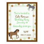Horses Birthday Invitation