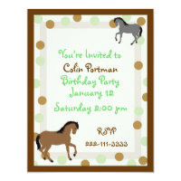 Horse birthday invitations announcements zazzle horses birthday invitation filmwisefo Choice Image