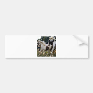 HORSES BLACK AND WHITE 1.PNG BUMPER STICKER