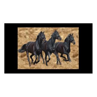 Horses Black Beauties Business Card