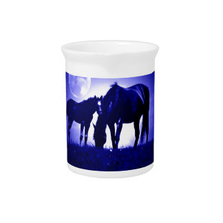 Horses & Blue Night Pitcher