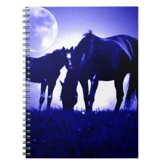 Horses & Blue Night Spiral Notebook
