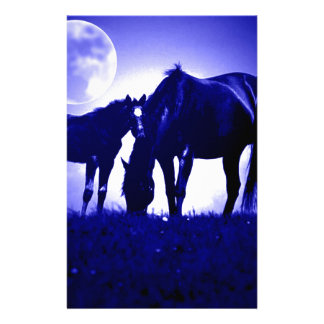 Horses & Blue Night Stationery