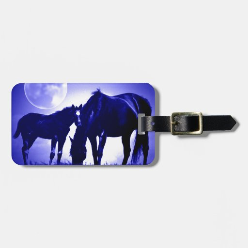 Horses & Blue Night Tag For Bags
