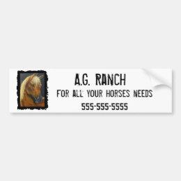 Horses Bumper Sticker