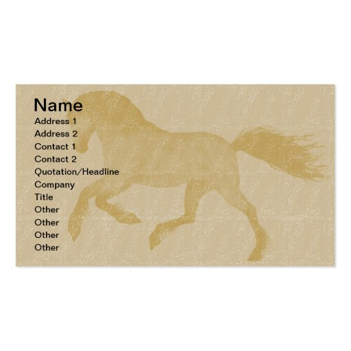 Horses business card template for Horse business cards