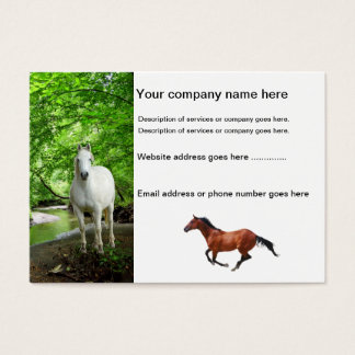 Horses Business Cards