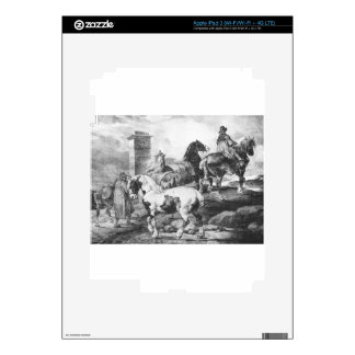 Horses by Theodore Gericault iPad 3 Decal