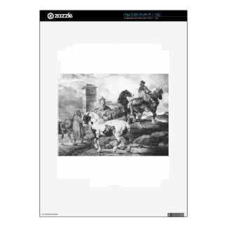 Horses by Theodore Gericault Skin For The iPad 2