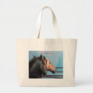 Horses/Cabalos/Horses Large Tote Bag
