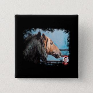 Horses/Cabalos/Horses Pinback Button