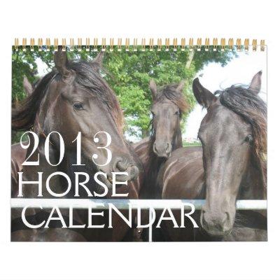 Horses Calendar 2013