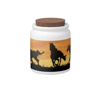 Horses Candy Jar