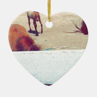 Horses Ceramic Ornament