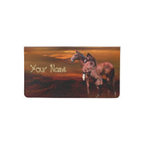 Horses Checkbook Cover
