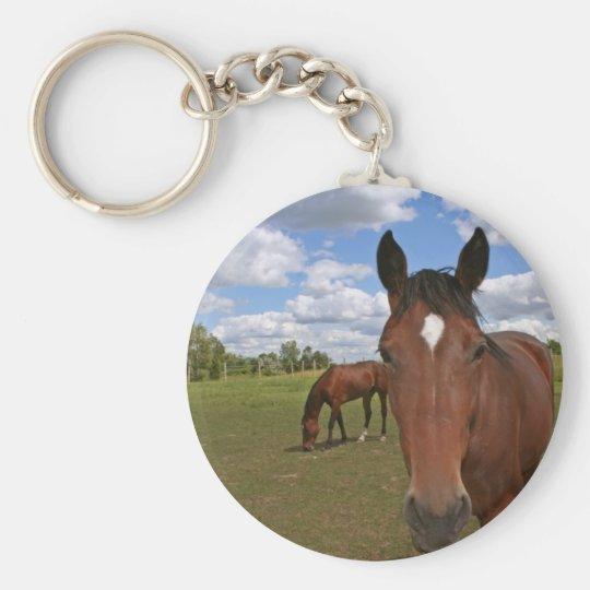 Horses Chilling Keychain