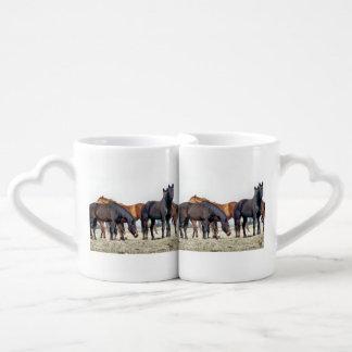 HORSES COFFEE MUG SET