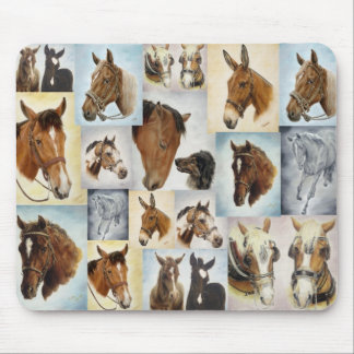 Horses Collage Mousepad