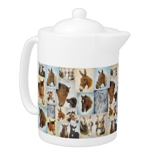 Horses Collage Teapot
