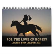 HORSES COLORING BOOK Calendar 2011