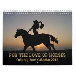 HORSES COLORING BOOK Calendar 2012